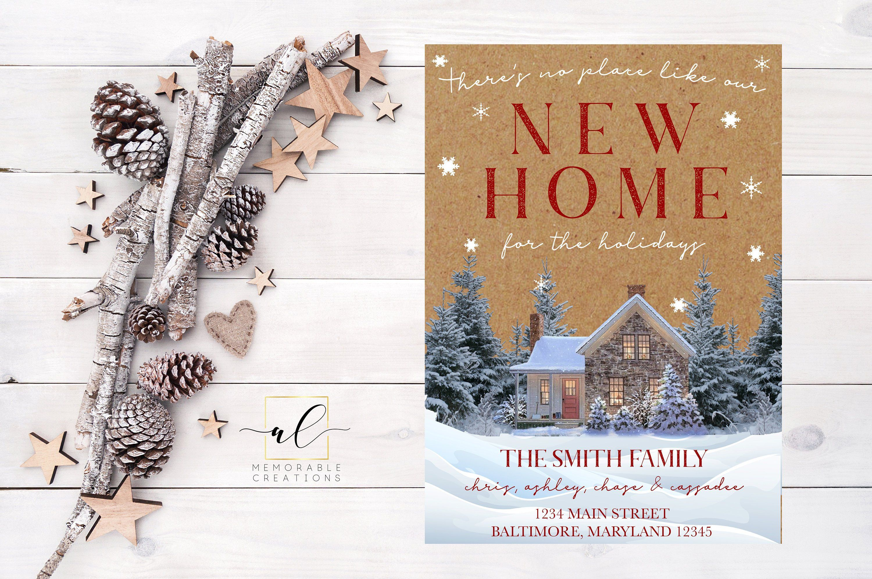 Home for the Holidays Address Change Announcement, Holiday Moving ...