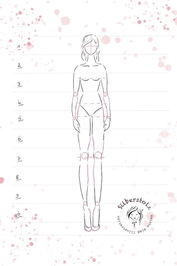 10 Schritte eine Frauen Figur zu zeichnen!Frauenfigur einfach ...