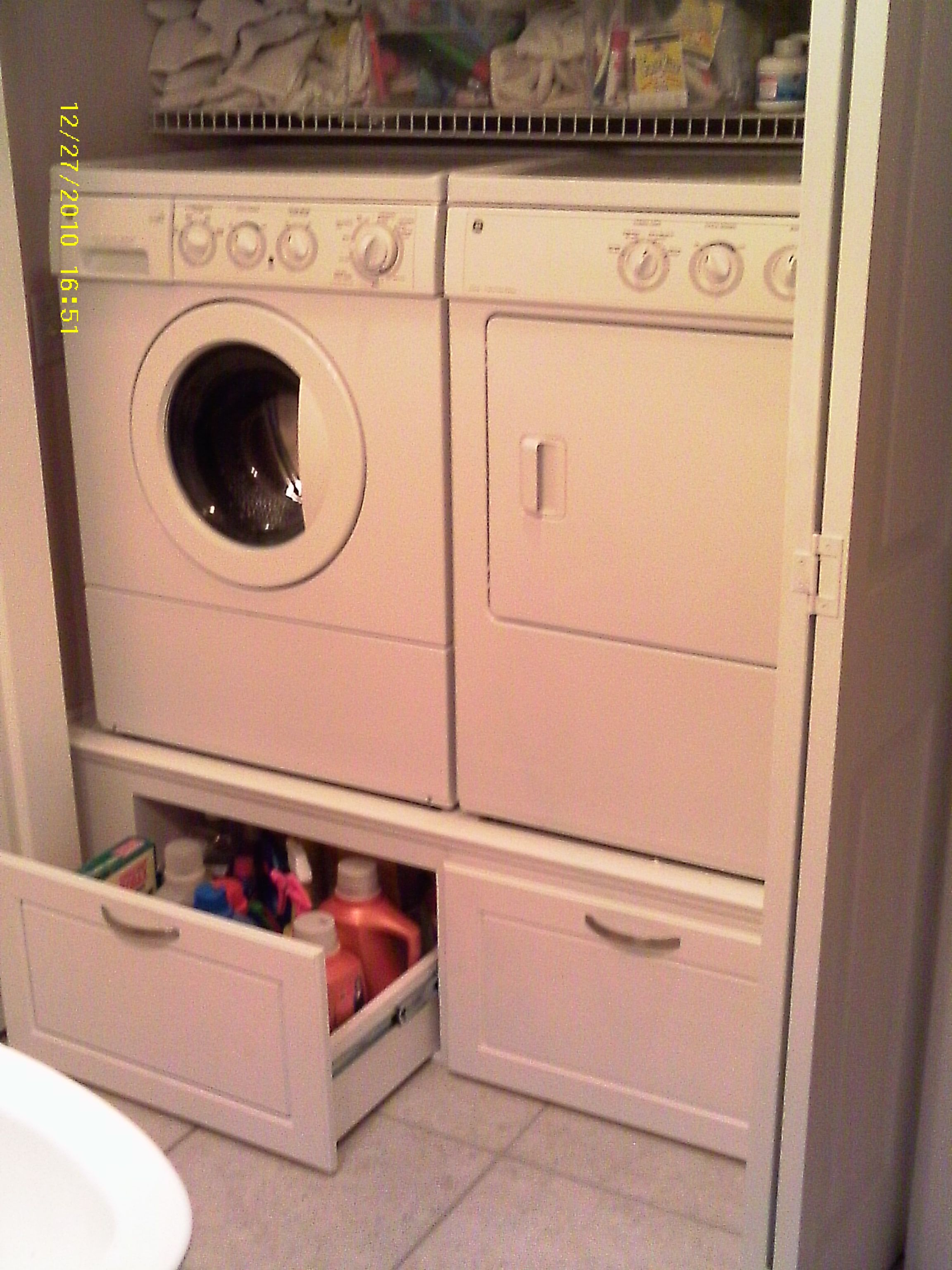 Stacked Washer Dryer Laundry Room