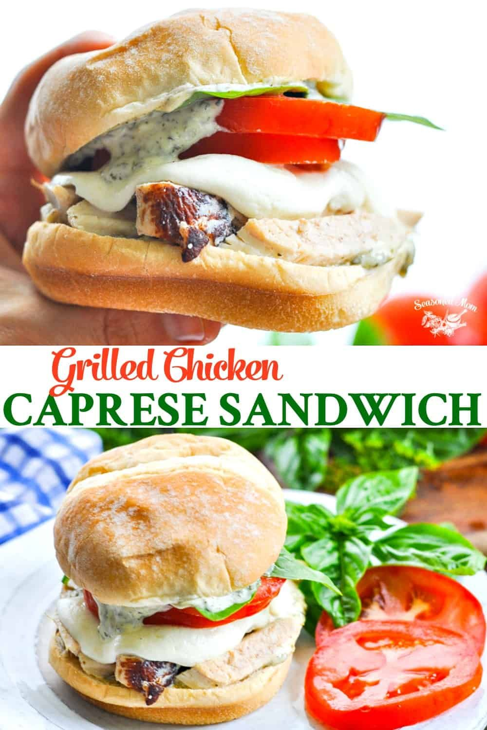 Grilled Chicken Caprese Sandwiches images