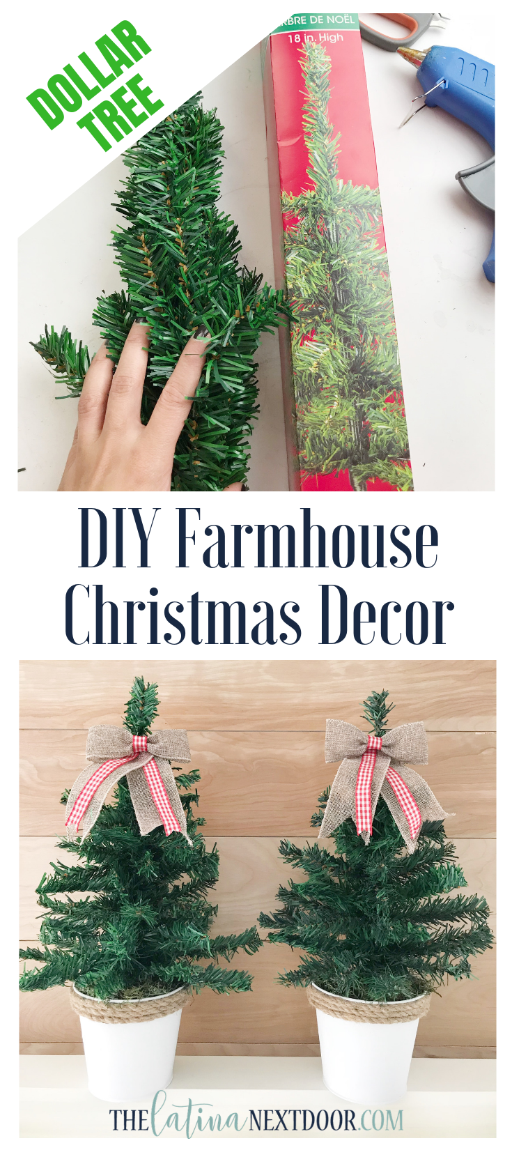 DIY Dollar Tree Christmas Trees #christmasdecor