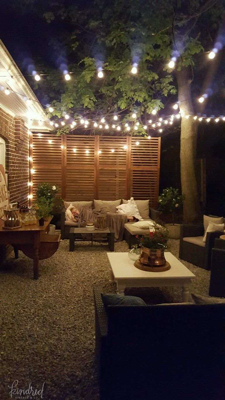 side yard makeover kindred vintage co backyard patio patio wall