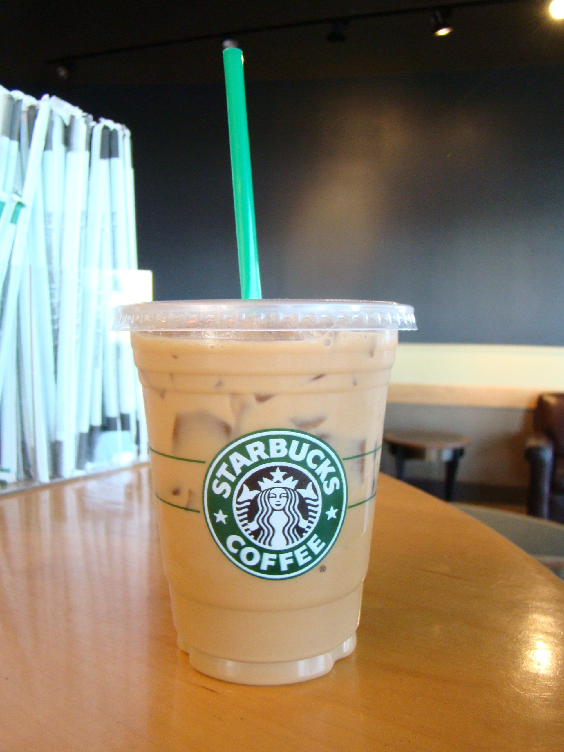 Iced Coffee With Milk And Flavored Syrup Starbucks