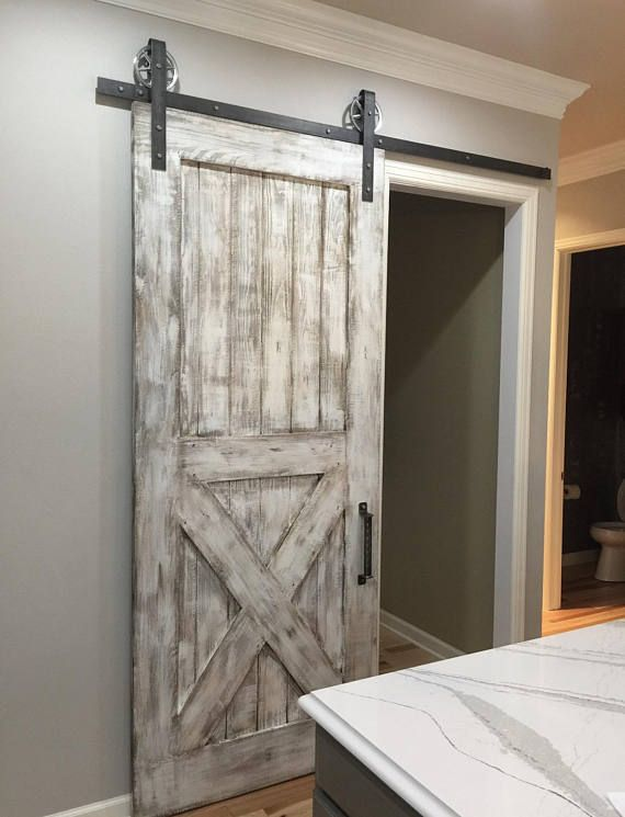 Custom Bottom X Sliding Barn Door Bedroom Door