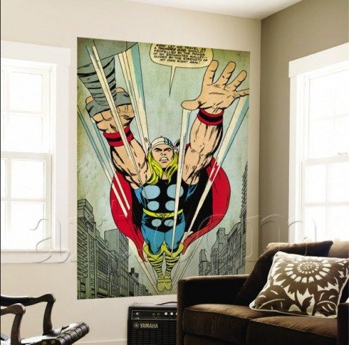 Comic Book Room Ideas: Marvel Comics Retro Wall Murals