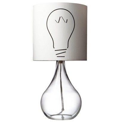 Target : Light Bulb Lamp, pretty funky for a little boy :)