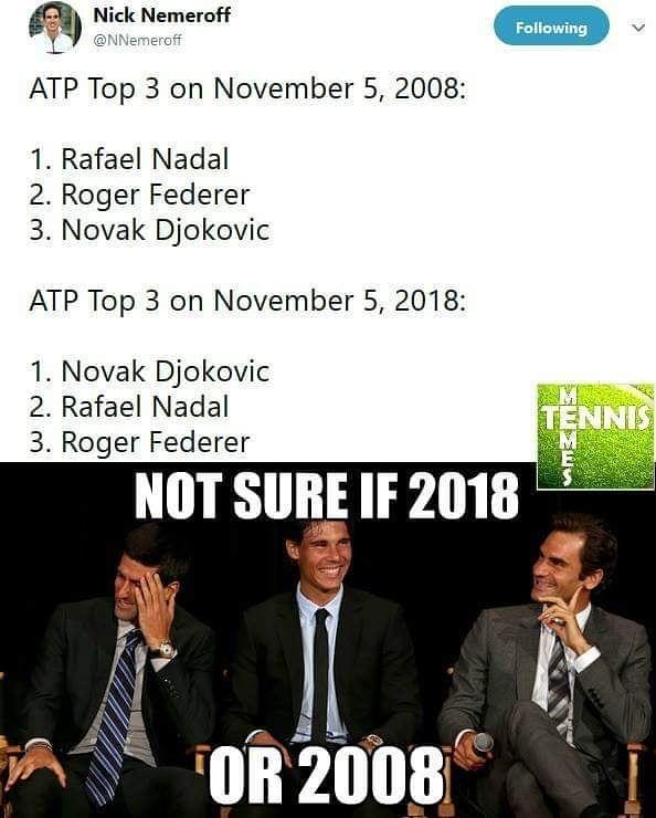 Tennis Memes On Instagram Fedalovic Be Like Novakdjokovic Djokovic Rafaelnadal Rafanadal Nadal Rogerfederer Federer Atpw Tennis Sports Memes Memes