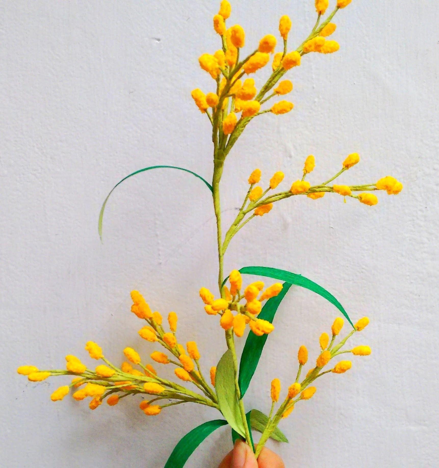 Paper Flowers Acacia Mimosa Paper Flowers Diy Paper Flowers