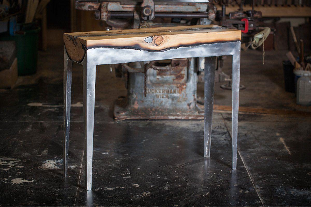 tables et chaises en bois et aluminium hilla shamia 12   Mobiliers en bois et aluminium de Hilla Shamia   table photo image Hilla Shamia fus...