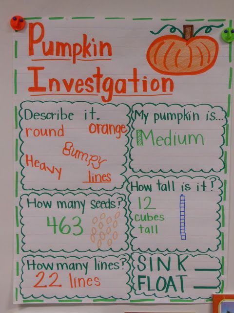 For the Love of First Grade The Great Pumpkin Investigation First