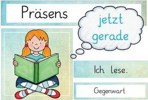 Aushänge Zeitformen Deutsch unterricht, Zaubereinmaleins