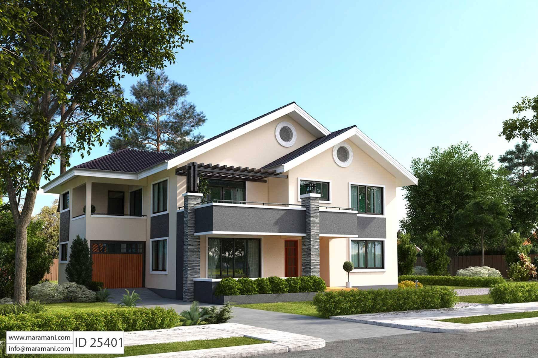 5 Bedroom House Plan ID 25401 Floor Plans in 2020 5