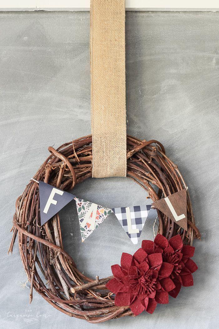 DIY Target Dollar Spot Fall Wreath (5 minute craft) Diy