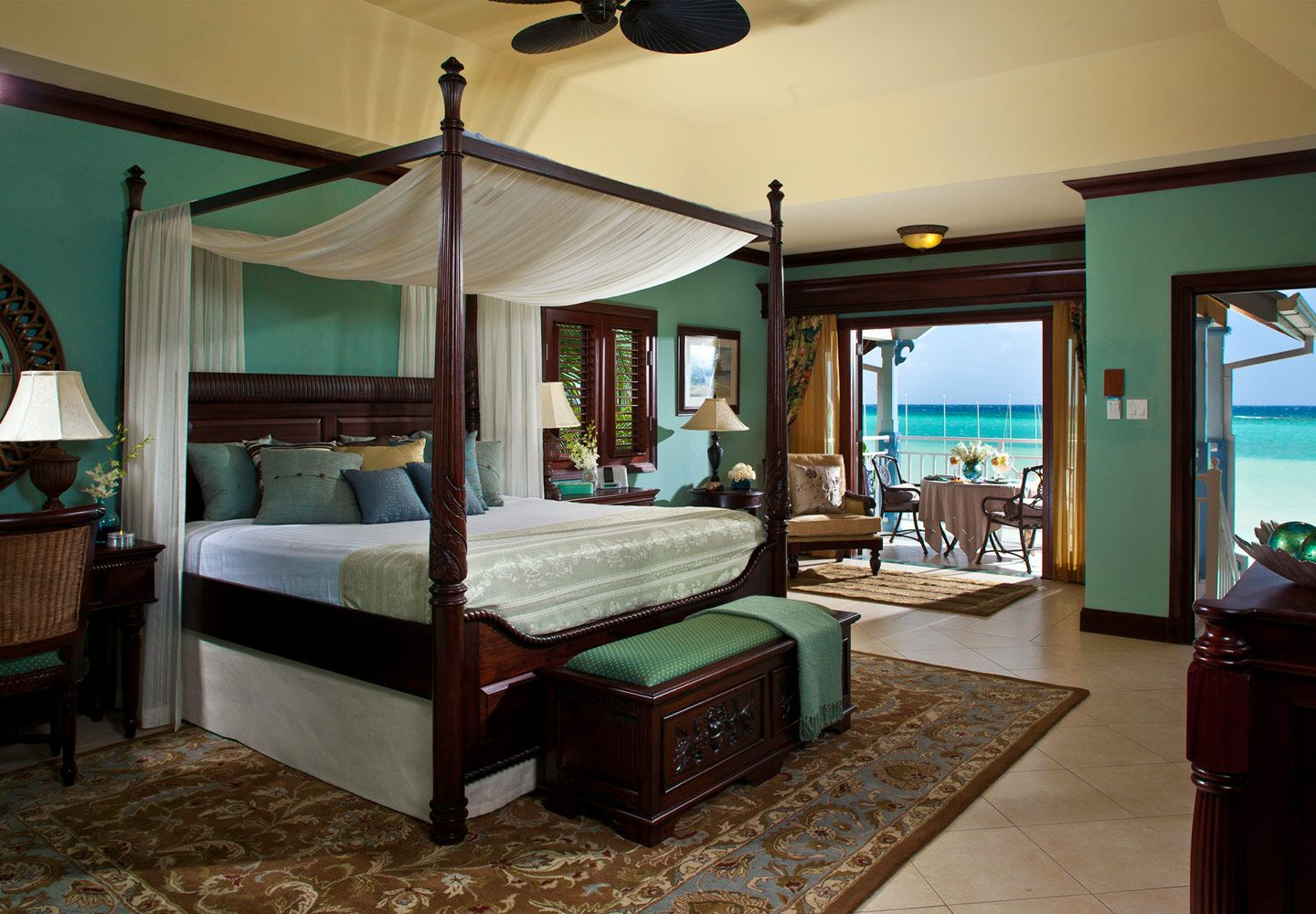 I would love to vacation here but posting for the color of bedroom ...