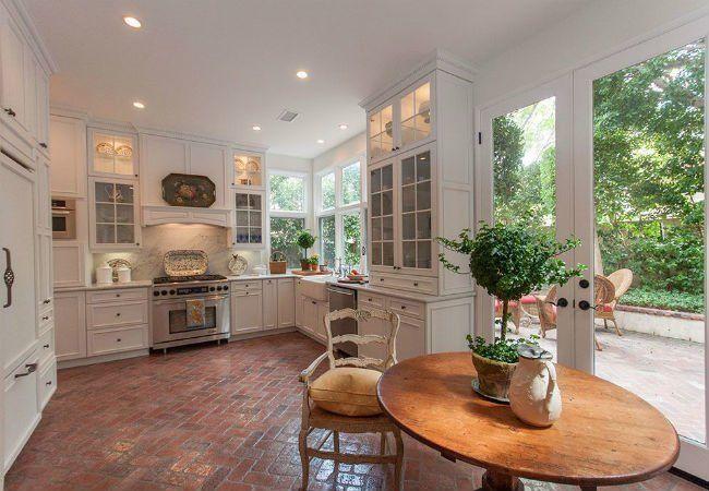 5 Reasons To Bring Brick Floors Indoors Brick Floor Kitchen Cottage Style Kitchen Kitchen Design