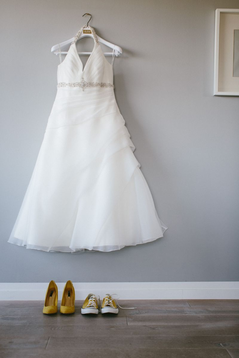 ♥ Brautkleid, Hochzeitskleid, Größe 40/42, halb lang, Neckholder ...