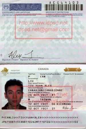 Template Canada Passport Psd Www Idpsd Net Passport Template
