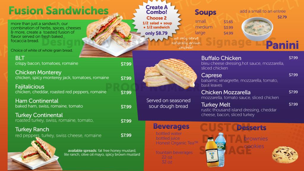 salad works digital menu board template digital restaurant menu