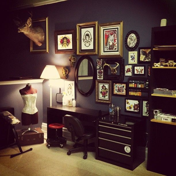 tattoo shop decor google search tattoo shop decor tattoo shop rh pinterest com Advertising Interior Design Ideas Tattoo Shop Receptionist