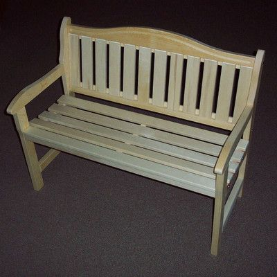 Prairie Leisure Design Wood Garden Bench Finish: