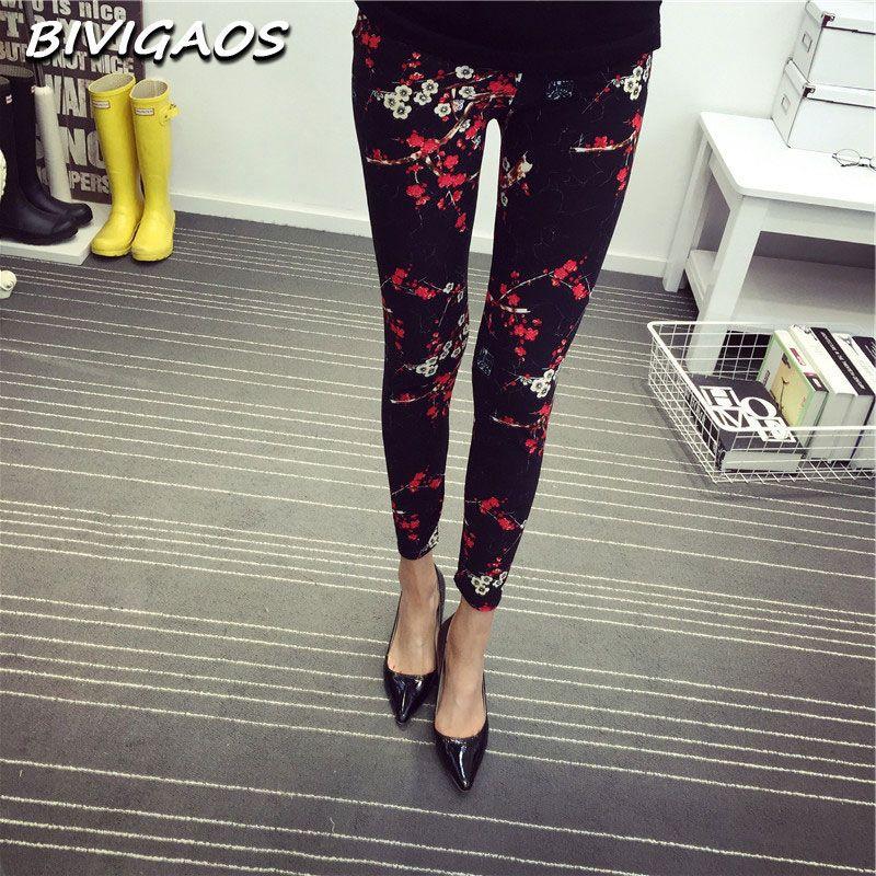 2016 New Spring Fashion Casual Cotone SPAZZOLATO Black Milk Leggings Pantaloni Elastici Femminili Plaid Graffiti Leggings Pantaloni Donna