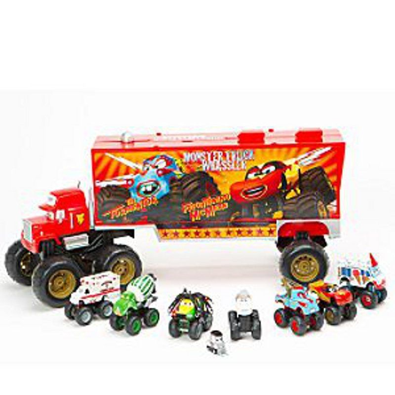 disney pixar cars toons monster truck mack plus free rare diecast cars t eastbourne car - Disney Cars Toys Truck
