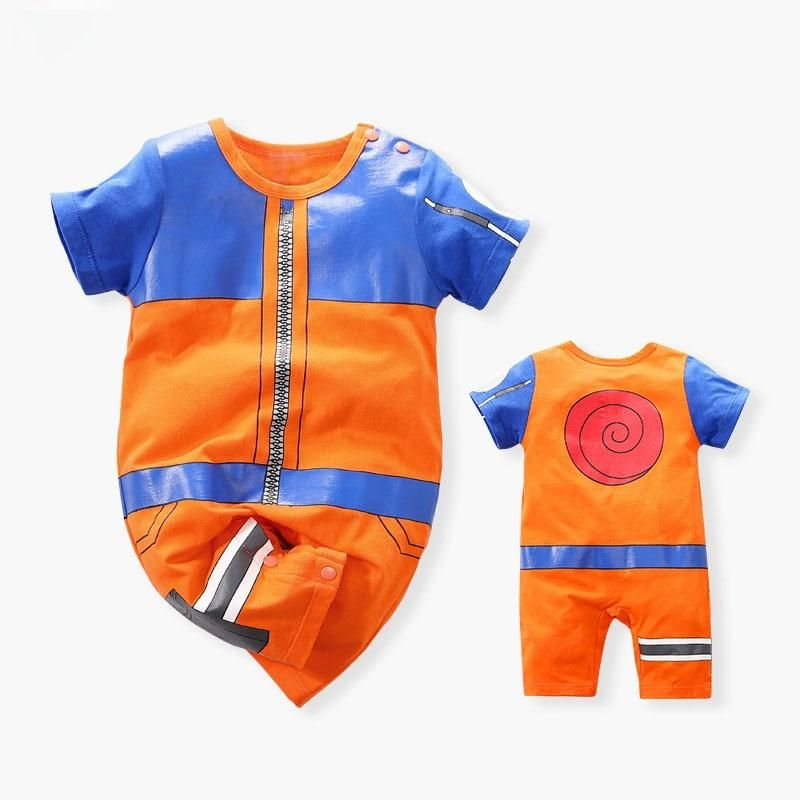 Photo of Anime Costume Newborn Baby Boy Clothes Cotton New Born Clothing Infant Romper Onesie Jumpsuits Pajamas Outfit Babygrow Overalls – Orange / 24M
