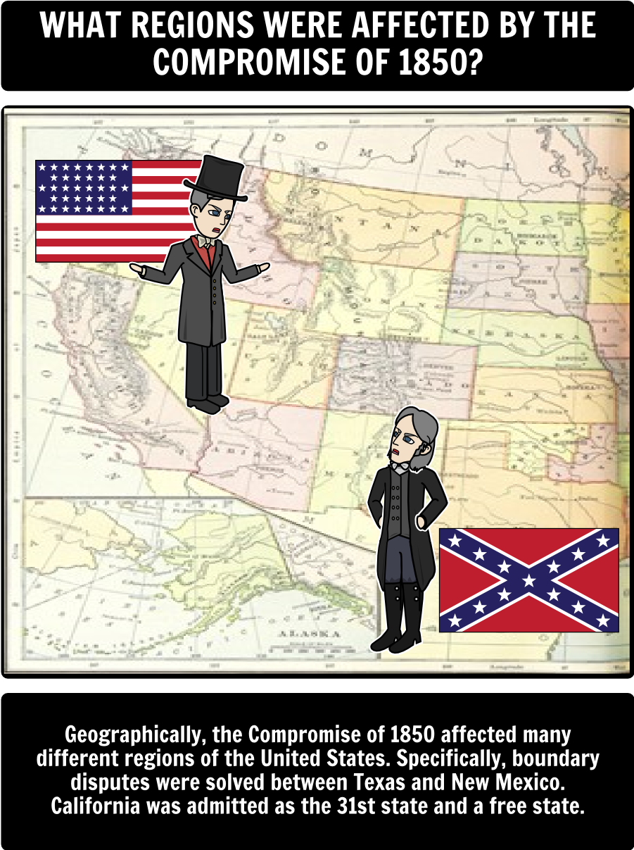 how the compromise of 1850 culminated in the civil war Compromise of 1850: compromise of 1850,  the compromise, however,  american civil war, four-year war (1861–65) between the united states and 11 southern .