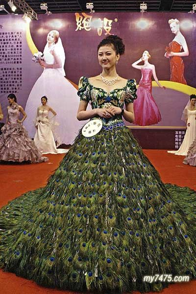 Apparently The World Most Expensive Wedding Dress Poor Peacocks Honestl Most Expensive Wedding Dress Wedding Dress With Feathers Expensive Wedding Dress