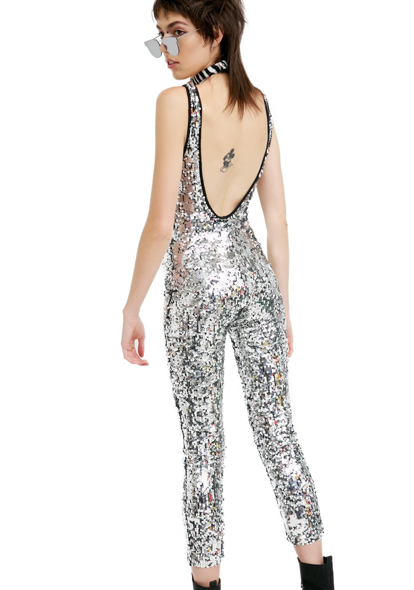 029ecab8822 Silver Glitter Jumpsuit