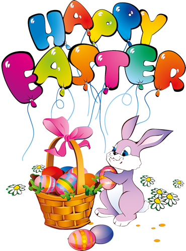 Happy Easter Bunny Clipart | Easter wishes, Happy easter bunny ...