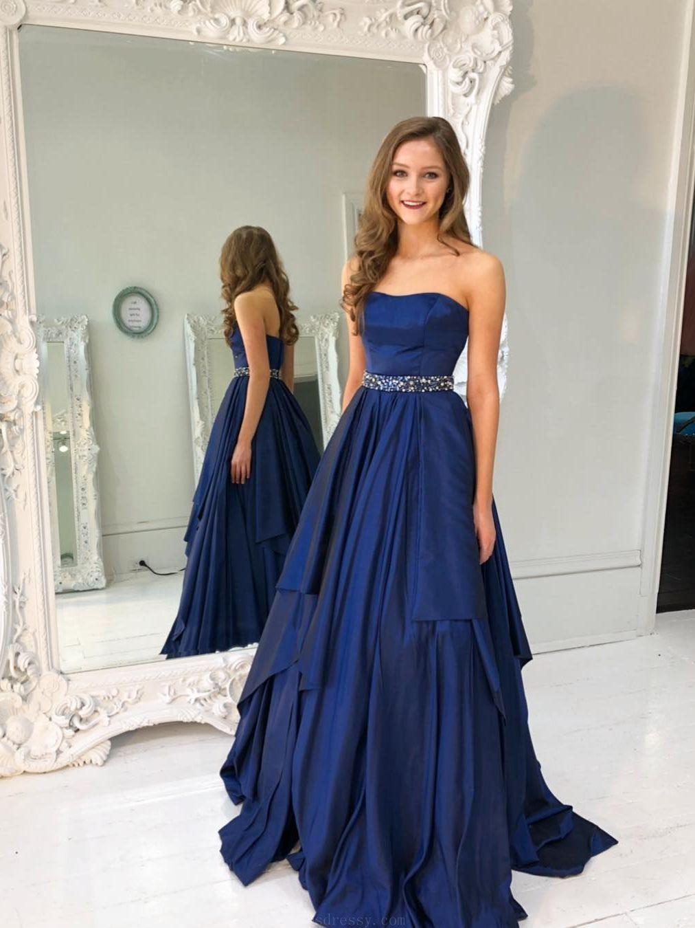 Outlet feminine navy blue prom dresses prom dresses blue prom