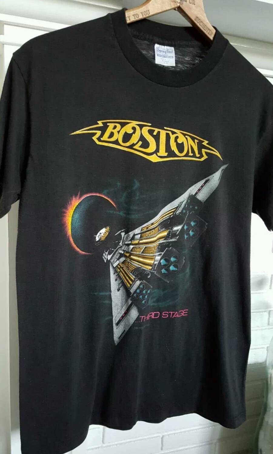 A personal favorite from my Etsy shop https://www.etsy.com/listing/236134154/boston-band-shirt-boston-shirt-vintage