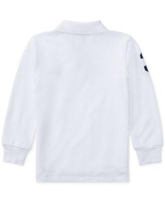 Ralph Lauren Long-Sleeve Big Pony Cotton Polo, Toddler \u0026 Little Boys (2T