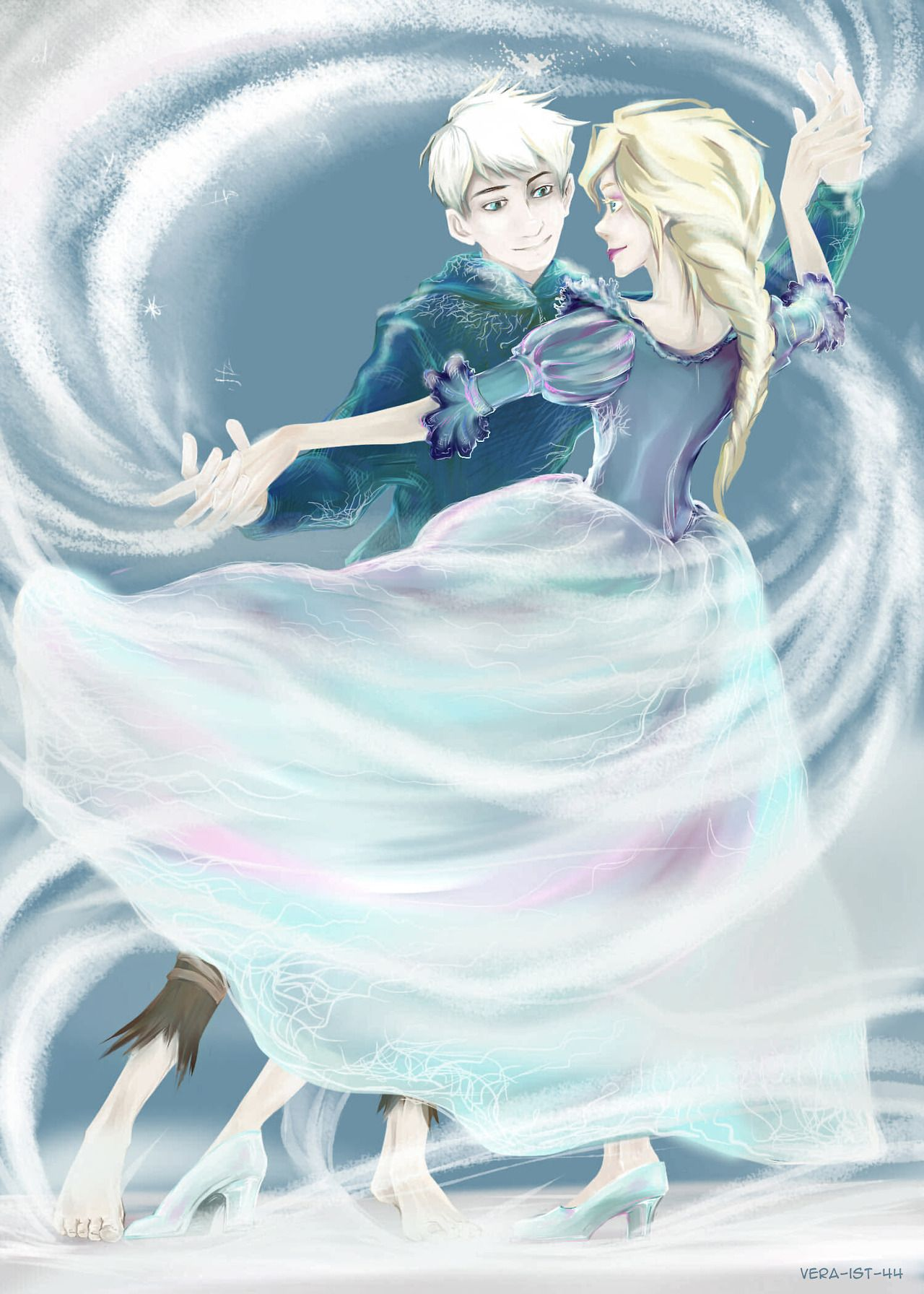Jack And Elsa Dancing Together Jack Frost Jack And Elsa Jack