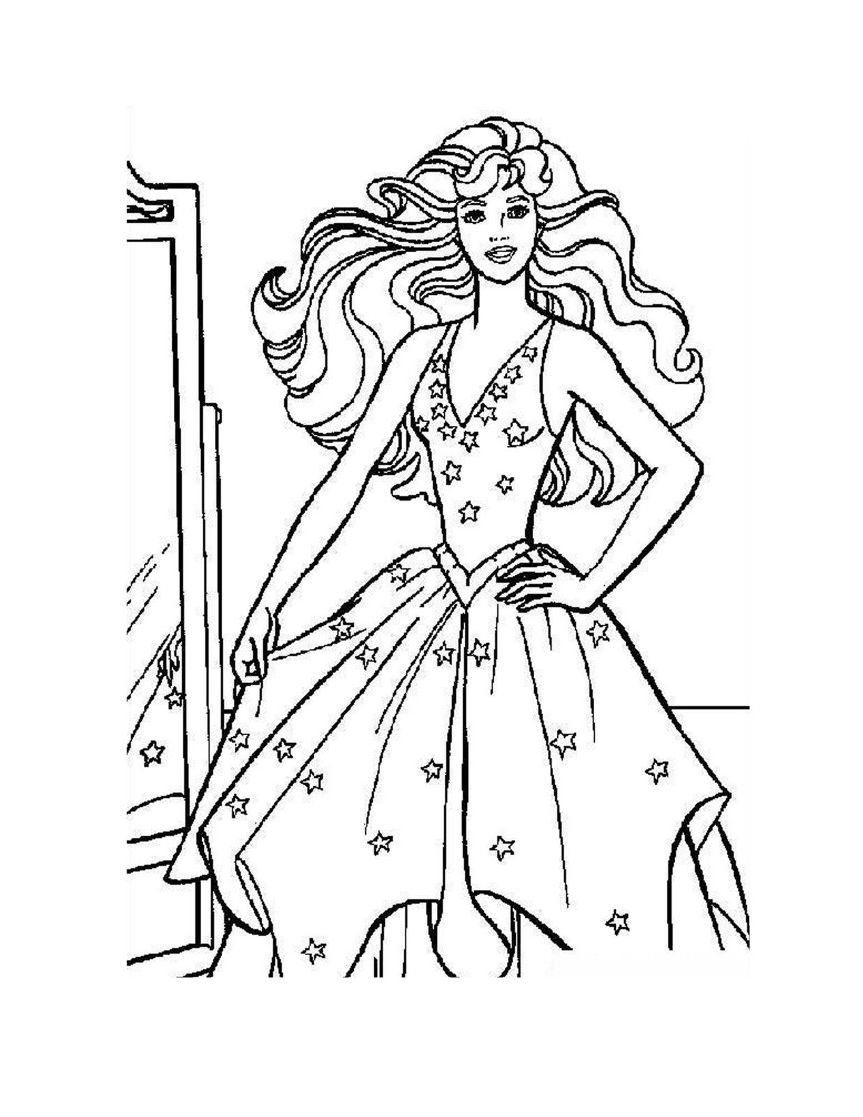 barbie coloring pages for girls   Fashionista Barbie Coloring Pages ...