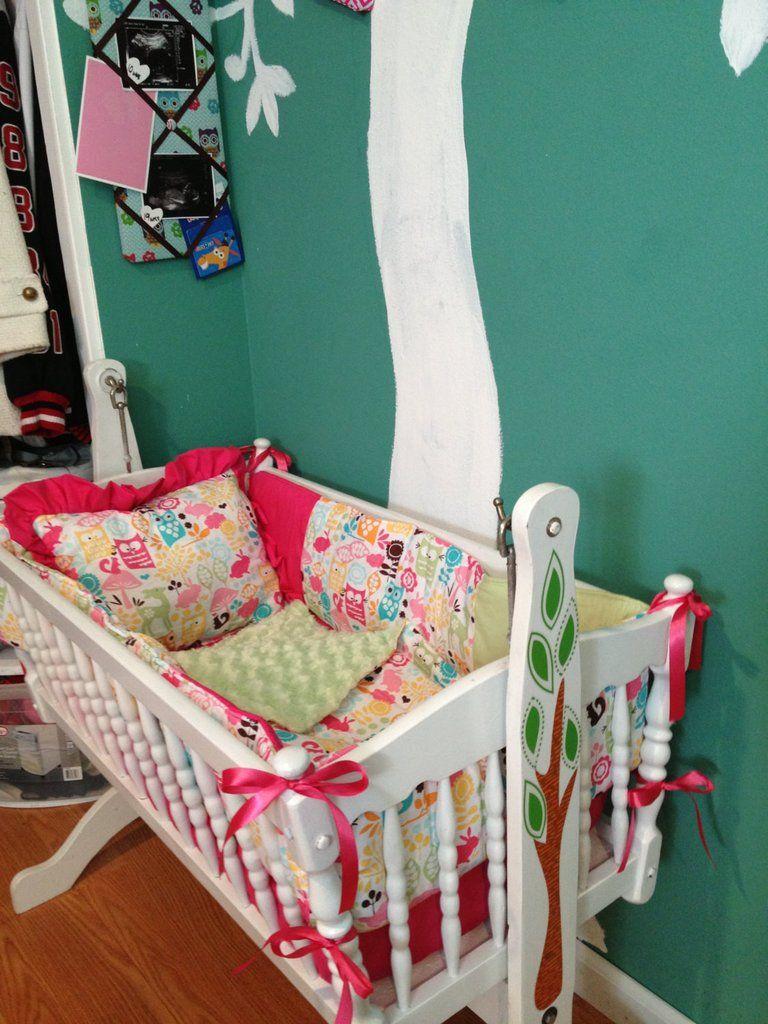 Owl Sorbet Mini Crib Bedding Set More