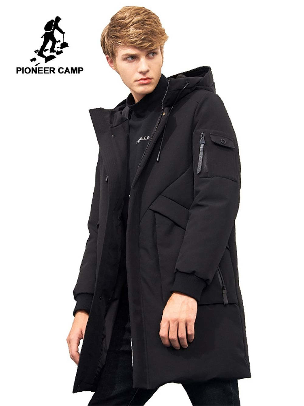 a2f6d3c7a0587 Pioneer Camp waterproof thick winter men down jacket brand-clothing hooded  warm duck down coat