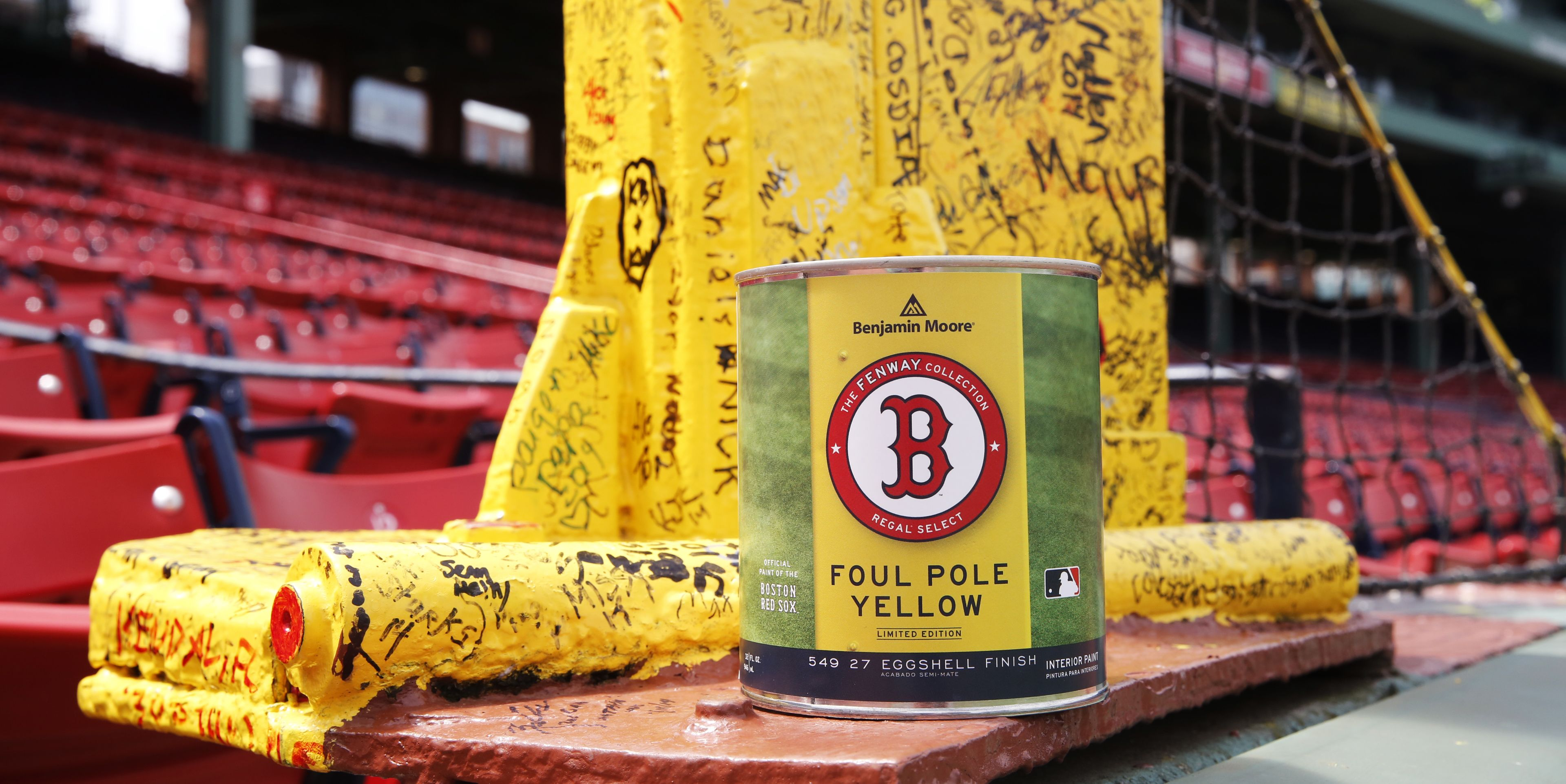 Foul Pole Yellow, The Fenway Collection Limited Edition Paint Colors ...