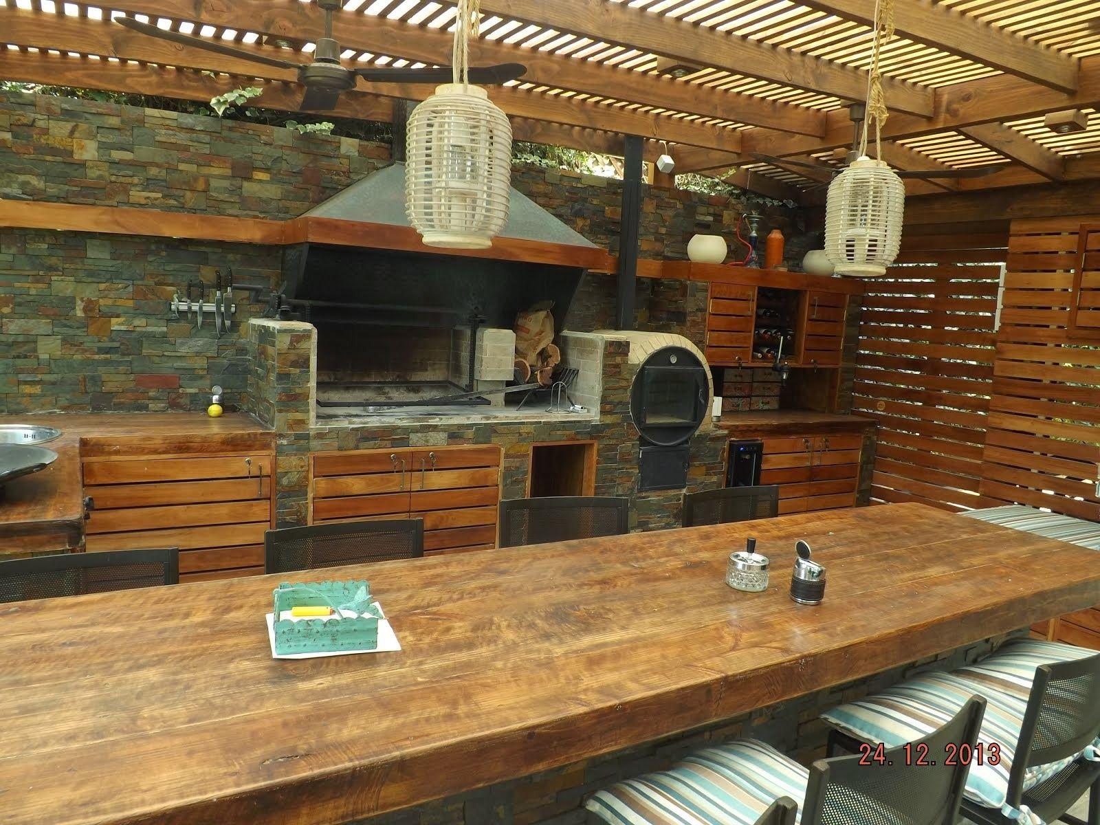 Quincho tirado bbq pinterest patios kitchens and - Fotos de cocinas rusticas ...