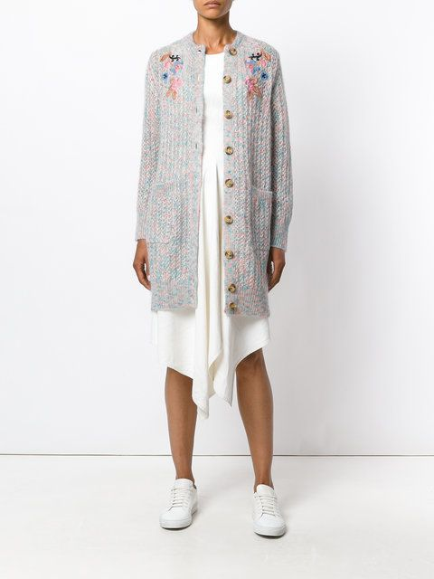 aa7984e6f1 Red Valentino floral embroidered cardigan  1051 FarFetch