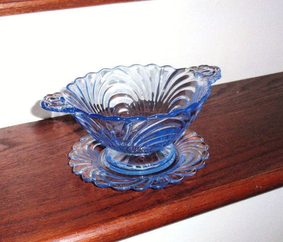 Cambridge Caprice Divided Relish Dish: Cambridge Glass Bowl Divided Bowl Depression Glass Dish SHIPPING INCLUDED Vintage Glass Bowl