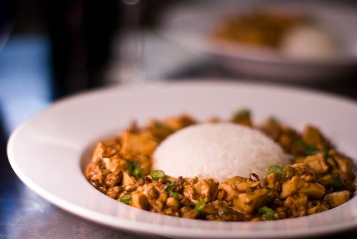 Of course, must try this! I have never seen Mapo Tofu placed around rice like a moat!