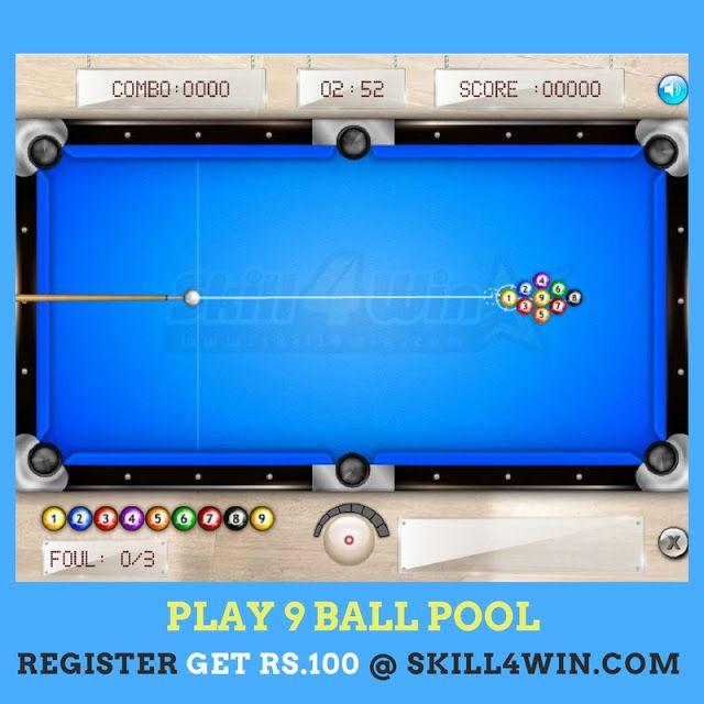 9 Ball Pool Online Real Money Game Money Games Pool Balls Pool Games