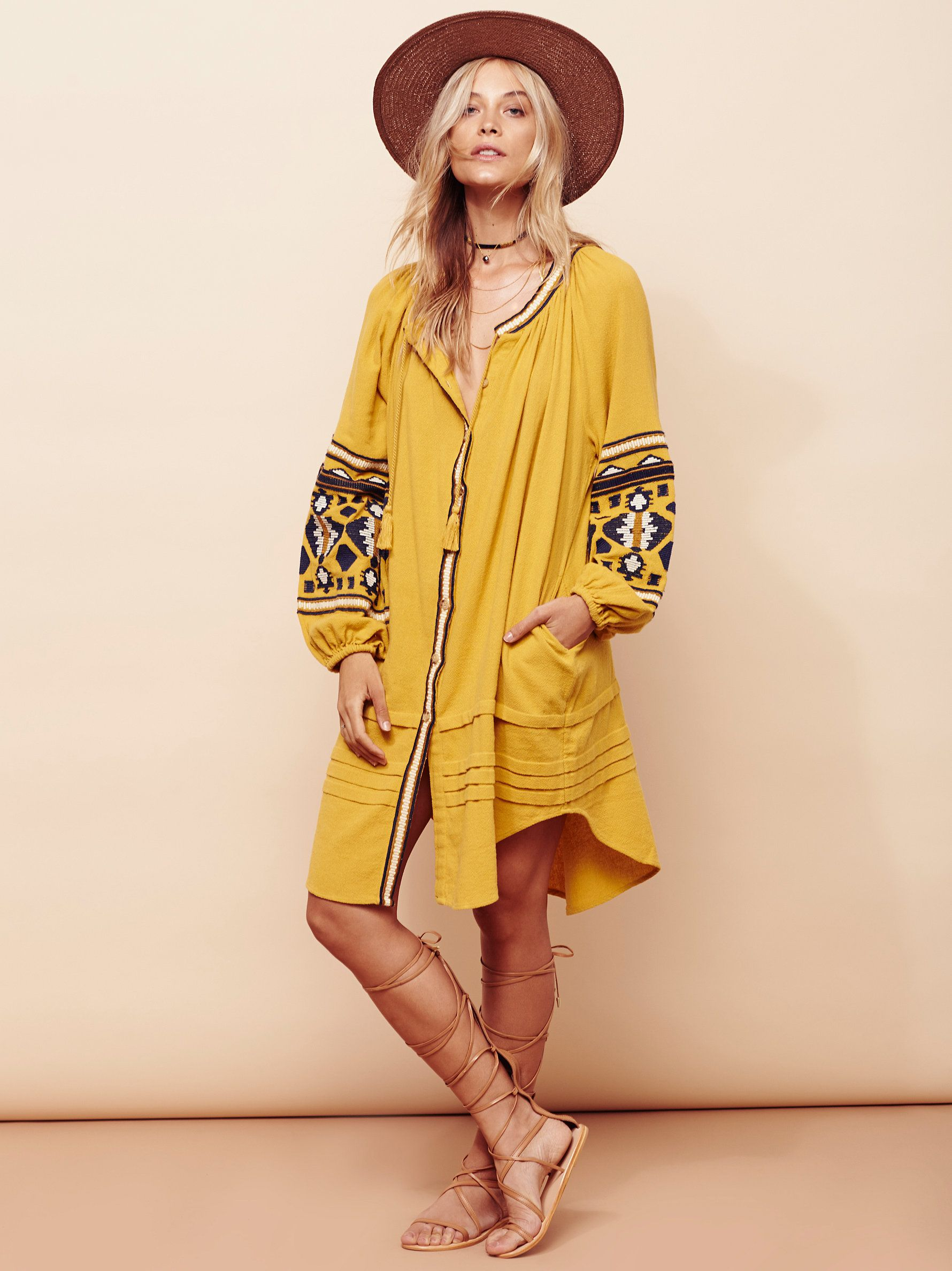 In the clear embroidered maxi in an oversized silhouette this