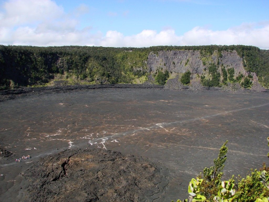 Looking Down On The Cooled Lava Lake Of The Kilauea Iki Crater From A Different Vantage Point The Hawaii Volcanoes National Park Volcano National Park Kilauea