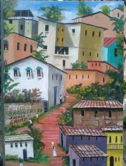 Paint Favelas Salvador Bahia Brazil