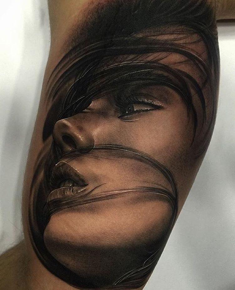 Beautiful woman sleeve tattoo face tattoos for women