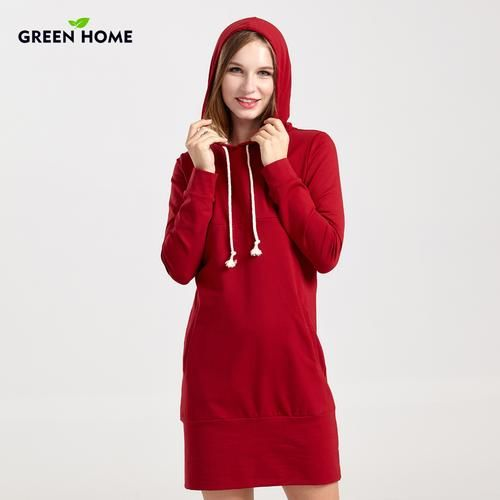 09e7dc49181fe Green Home Thicken Maternity Winter Tops Nursing Dress Casual Pregnancy  Breastfeeding Hooded Maternity Dresses Tight For