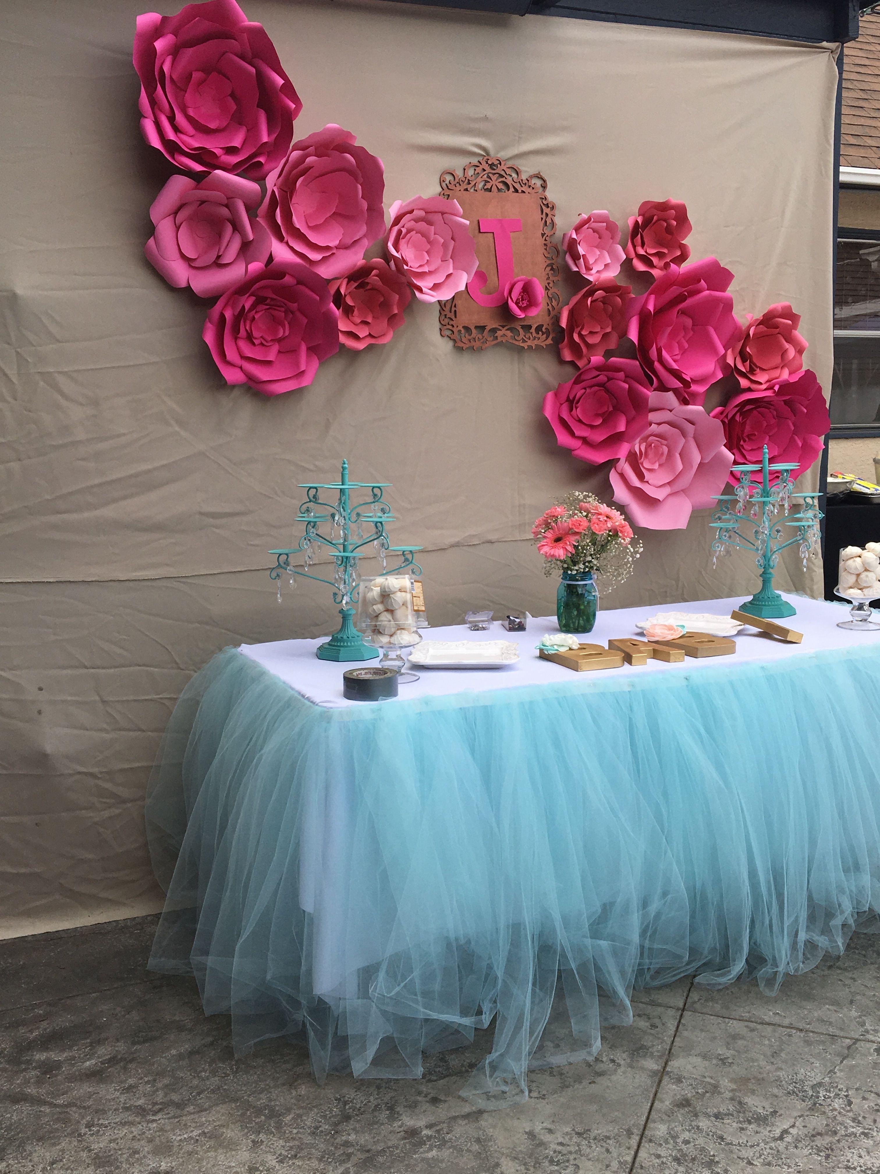 Paper Flower Backdrop For Birthday Wedding Babyshower Celebration Candy Table Decoration Decoracion Con Flores Decoracion Fiesta Decoracion De Eventos